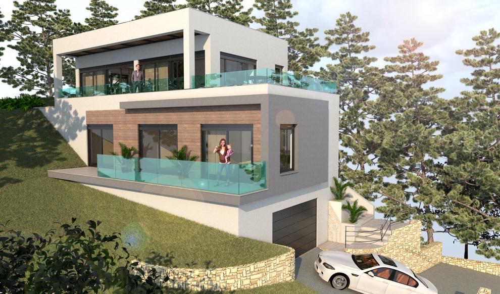 Casa a estrenar con vistas al mar.